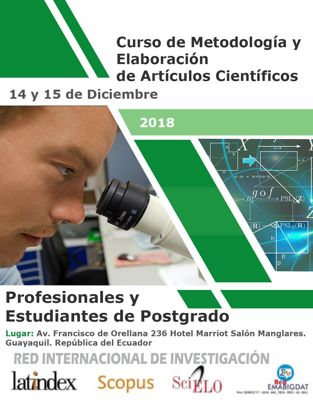 Curso de Metodología de la Investigación y Elaboración de Artículos Científicos