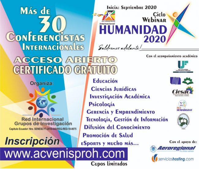 Ciclo Webinar HUMANIDAD 2020