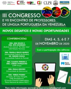 III Congresso e VII Encontro de Professores de Língua Portuguesa Da Venezuela